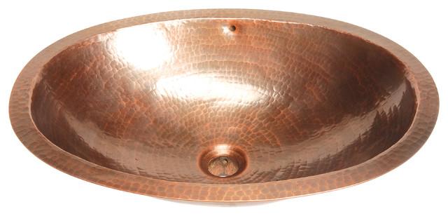 Belle Foret Model BFC13 WC Medium Oval Lavatory Copper Sink bathroom-sinks