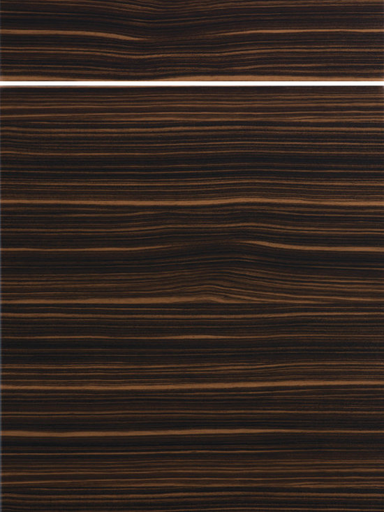 "Dura Supreme Cabinetry - Dura Supreme Cabinetry Soho - Horizontal Contemporary Cabinet Door Style - Dura Supreme Cabinetry ""Soho - Horizontal"" contemporary cabinet door style in Patterned Gloss Foil shown with Dura Supreme's ""Macchiato"" foil finish."