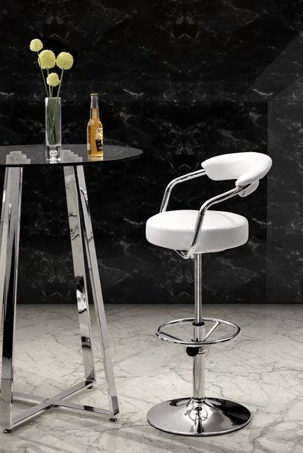 Zuo - Barber Bar Stool in White modern-kitchen-products