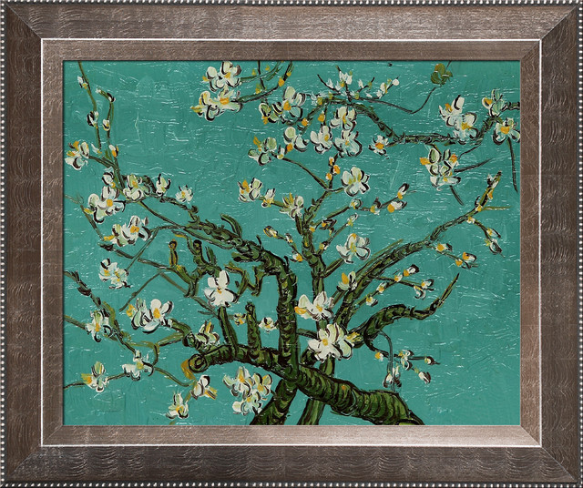 Van Gogh - Branches of an Almond Tree in Blossom Oil Painting modern-prints-and-posters