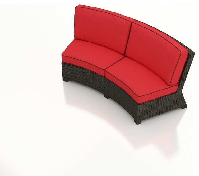 barbados curved sofa modern outdoor sofas other metro by patioproductions