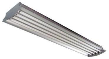 HomeSelects 4 ft. 4-Lamp High Output 32-Watt (Each) T8 Aluminum High Bay Light F contemporary-ceiling-lighting
