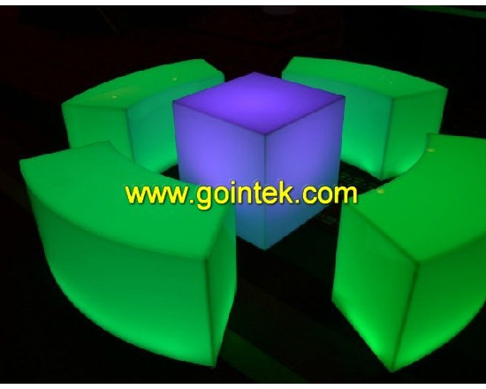 led furniture sofa with battery and remote control -
