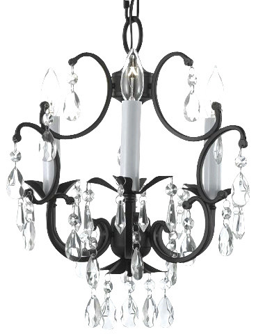 Wrought Iron Crystal chandelier traditional-chandeliers