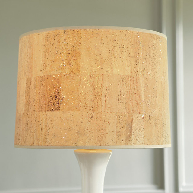 Couture Drum Table/ Floor Lamp Shade - Document Brown 18 inch traditional-lamp-shades