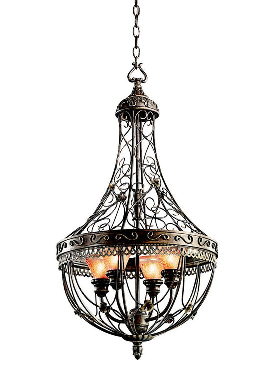 Grandiose Chandeliers - Marchesa - Foyer Pendant/Cage 4Lt