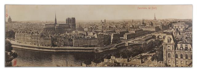 Panorama De Paris Vintage Art traditional-artwork