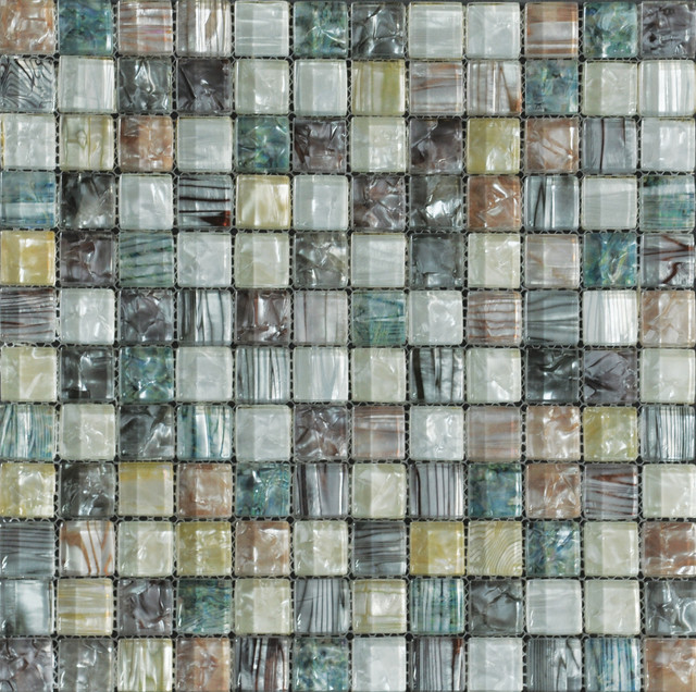 tesoro multi color glass mosaic sheet from pearlesque