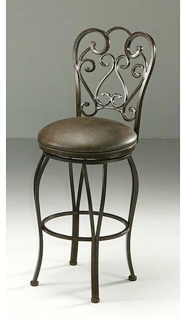 Magnolia 30 inch autumn rust swivel bar stool for Magnolia home furniture bar stools