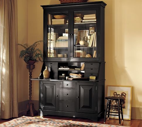 Graham Desk & Hutch | Pottery Barn traditional-desks-and-hutches