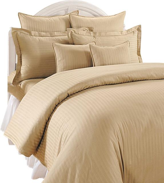 1200 Tc Stripe Sheet Set 100 Egyptian Cotton Bed