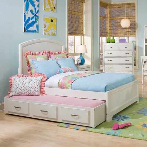 Laguna Beach Panel Bed Traditional Kids Beds by