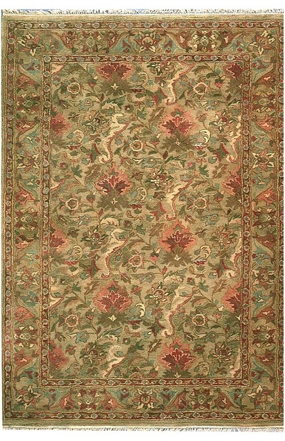 """Transitional American Home Classic 11'6""""x14'6"""" Rectangle Sage Green Area Rug transitional-rugs"""