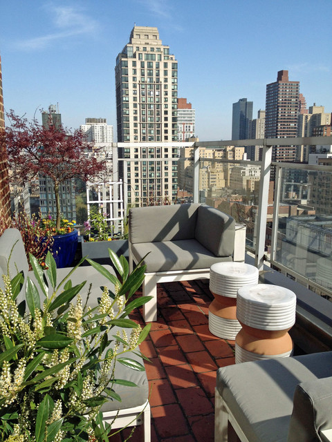 Nyc terrace deck roof garden balcony container plants for New york balcony
