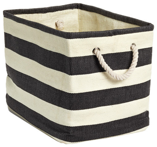 Rugby Stripe Bins contemporary baskets