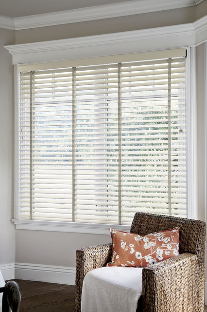 Smith and noble wood blinds traditional vertical for Smith and noble shades