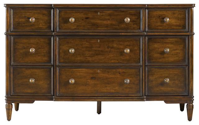 Vintage Bedroom Dresser - Vintage Cherry Finish traditional-dressers