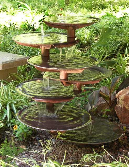 Home Garden Eclectic Outdoor Fountains And Ponds