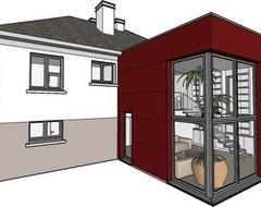 maison avec sous sol semi enterr. Black Bedroom Furniture Sets. Home Design Ideas