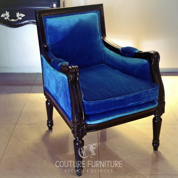 Antique Louis XVI Marquise Wing Chair contemporary-furniture