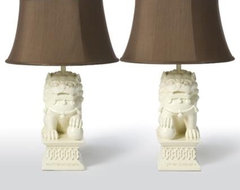Barbara Cosgrove Lamps Foo Dogs Table Lamps asian-table-lamps