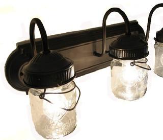 Farmhouse bathroom vanity for Bathroom vanity light fixtures oil rubbed bronze
