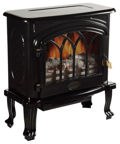 Infrared Adjustable Heater Black Finish traditional-air-conditioners