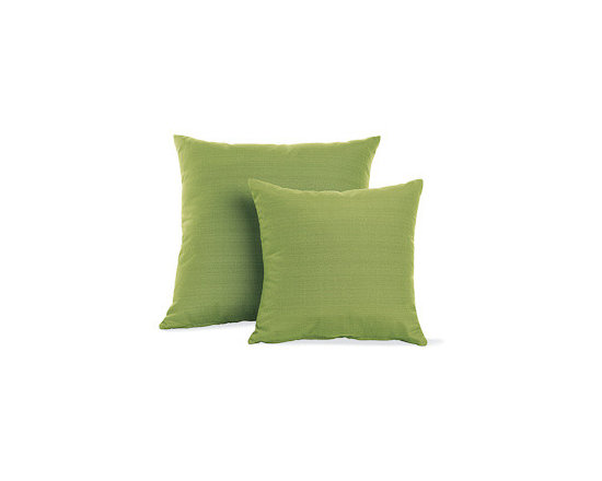 Outdoor Pillows in Rove Maharam Fabric - Designed by Design Within Reach Suitable for indoor and outdoor use, these Pillows (2011) are upholstered in Maharam fabrics with a stain-resistant finish. The finish on the Rove pillows is free of PFOA chemicals. For best results, store cushions inside during inclement weather. Made in U.S.A. DWR Exclusive