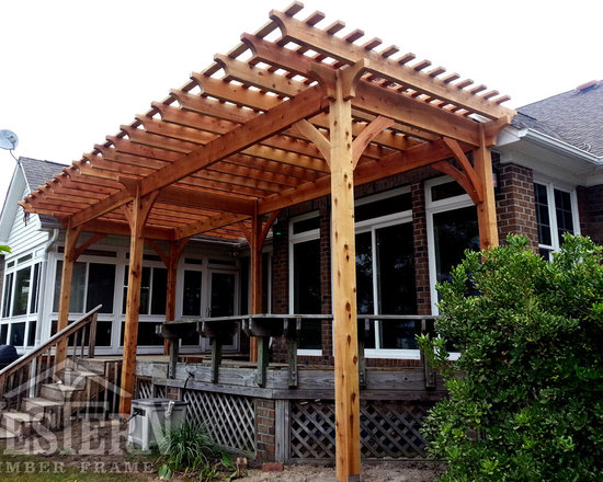 Entertainment Size Pergolas - Western Timber Frame free standing