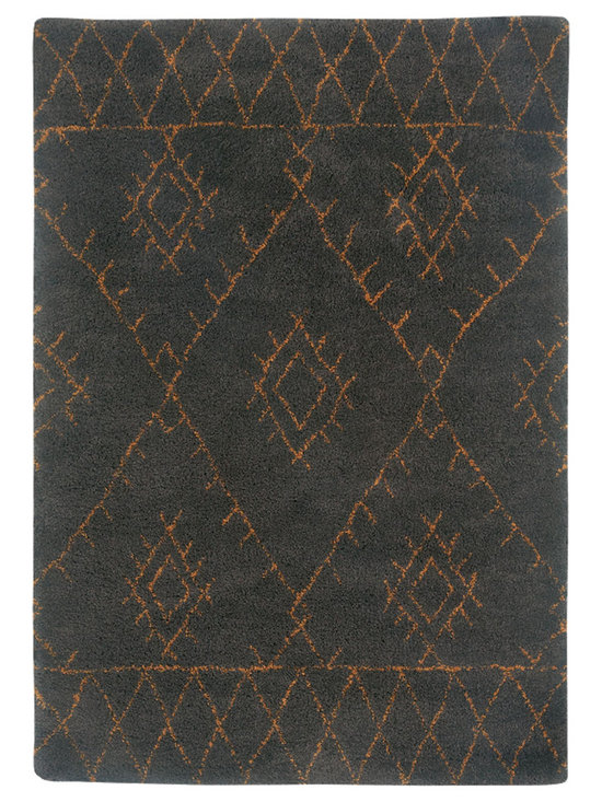 Tangier rug in Raisin - Fashionable Moroccan patterns provide plenty of North African Tribal style at an incredible value price point.