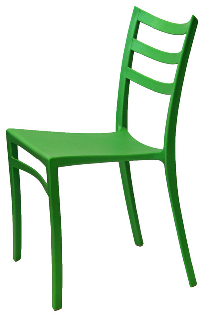 Stackable Modern Chair Green Contemporary Outdoor Dining Chairs by ART