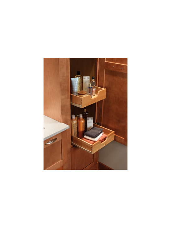 Tall Cabinet Pull-out Tray - Instantly access the contents of a tall cabinet, even items stored all the way at the back, with pull-out trays.
