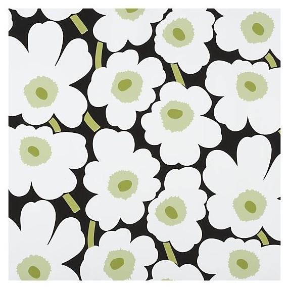 Marimekko Unikko Black and White Gift Wrap modern-wall-stencils