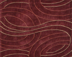 "Loloi Grant GR-03 7'9"" x 9'9"" Red Rug contemporary-rugs"