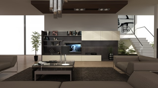 Space design contemporary rendering