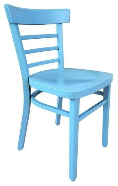 Pre owned Vintage Cafe Chair in Powder Blue Farmhouse  : contemporary dining chairs from www.houzz.com size 408 x 640 jpeg 30kB