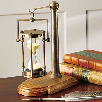 Bronze 30-Minute Glass traditional desk accessories
