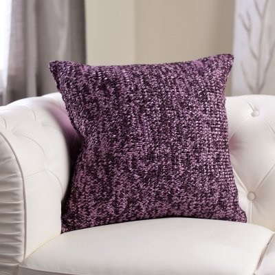 Modern Knitted Pillow : Edie Inc. Luxe Knitted Ribbon Decorative Pillow - Purple - Modern - Decorative Pillows - by ...