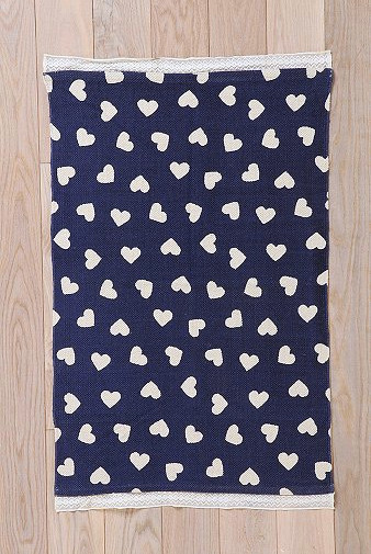 Plum & Bow Ditsy Heart Rug contemporary-rugs