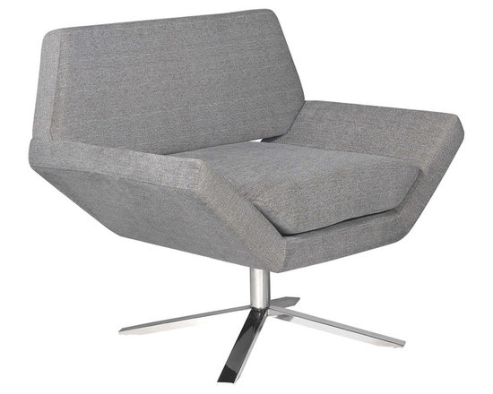 Nuevo Living - Sly Occasional Chair in Grey Fabric by Nuevo - HGDJ137 - The Sly occasional chair in grey fabric by Nuevo offers modern design at a great price.   The fabric seat is 70% cotton, 30% nylon, or wool
