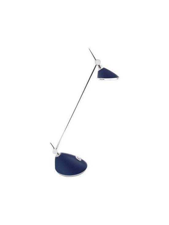 Bulbrite 40W Replacement (6W) Slyng LED Desk Lamp with Touch Dimmer - Bulbrite 40W Replacement (6W) Slyng LED Desk Lamp with Touch Dimmer (Warm, Dim, Blue) | http://www.agreensupply.com/bulbrite-40w-replacement-6w-slyng-led-desk-lamp-with-touch-dimmer-warm-dim-blue/