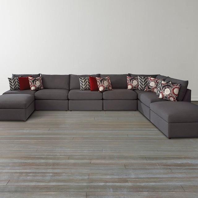 Beckham u shaped sectional by bassett furniture sectional sofas raleigh by bassett furniture for Bassett living room u shaped sectional