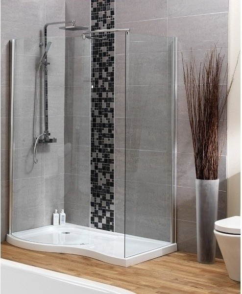 hydrolux meridian walk in shower enclosure pack with tray waste contemporary shower. Black Bedroom Furniture Sets. Home Design Ideas