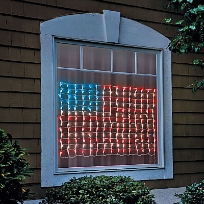 Lighted american flag decoration contemporary outdoor for American flag decoration