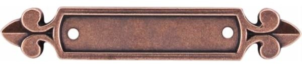 Top Knobs: Dover Backplate 2 1/2 Inch - Old English Copper contemporary-cabinet-and-drawer-knobs