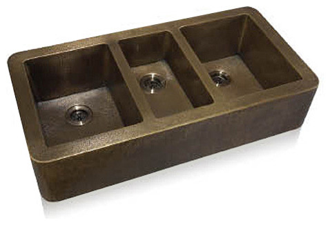 Triple Bowl Apron Front Undermount - Modern - Kitchen Sinks - salt ...