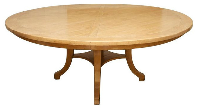 large round wood dining pedestal table 8 029 est