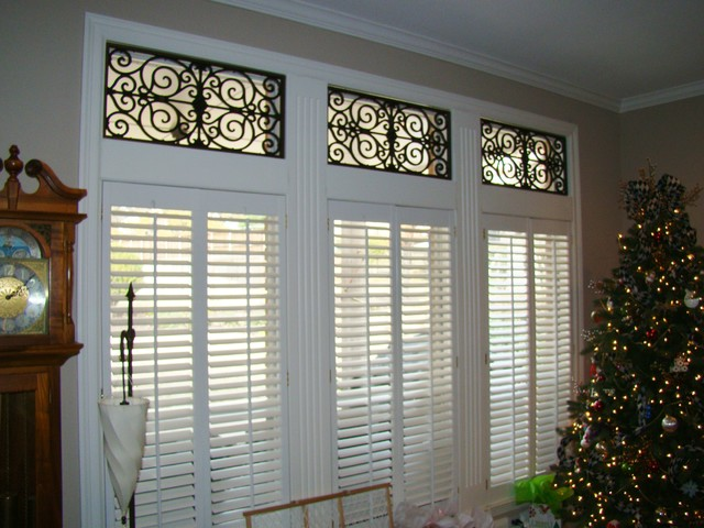 Roman Shades With Faux Iron In Southlake Tx Traditional