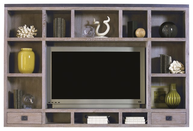 Lillian August Cole Topper in Weathered Wood LA99032-01 - Modern - Entertainment Centers And Tv ...