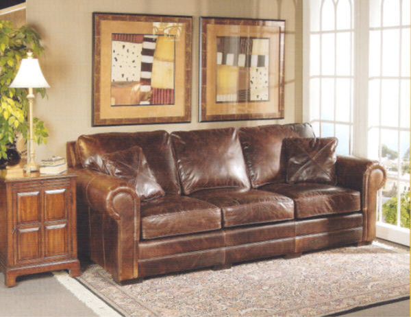 Leather couch transitional sofas seattle by wellington s